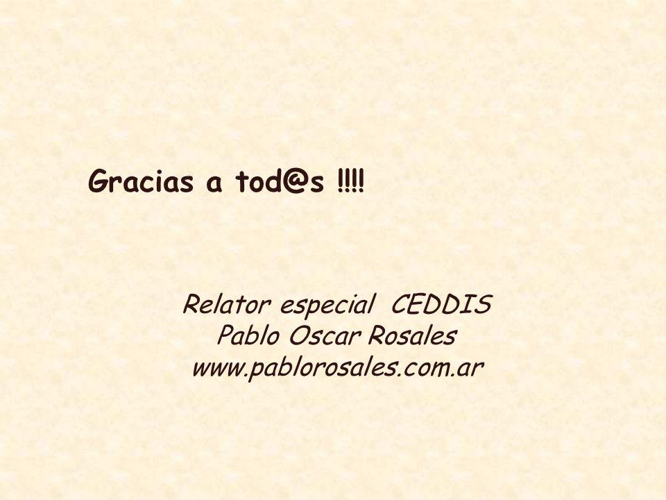 Relator especial CEDDIS
