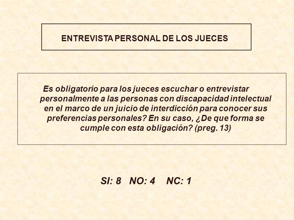ENTREVISTA PERSONAL DE LOS JUECES