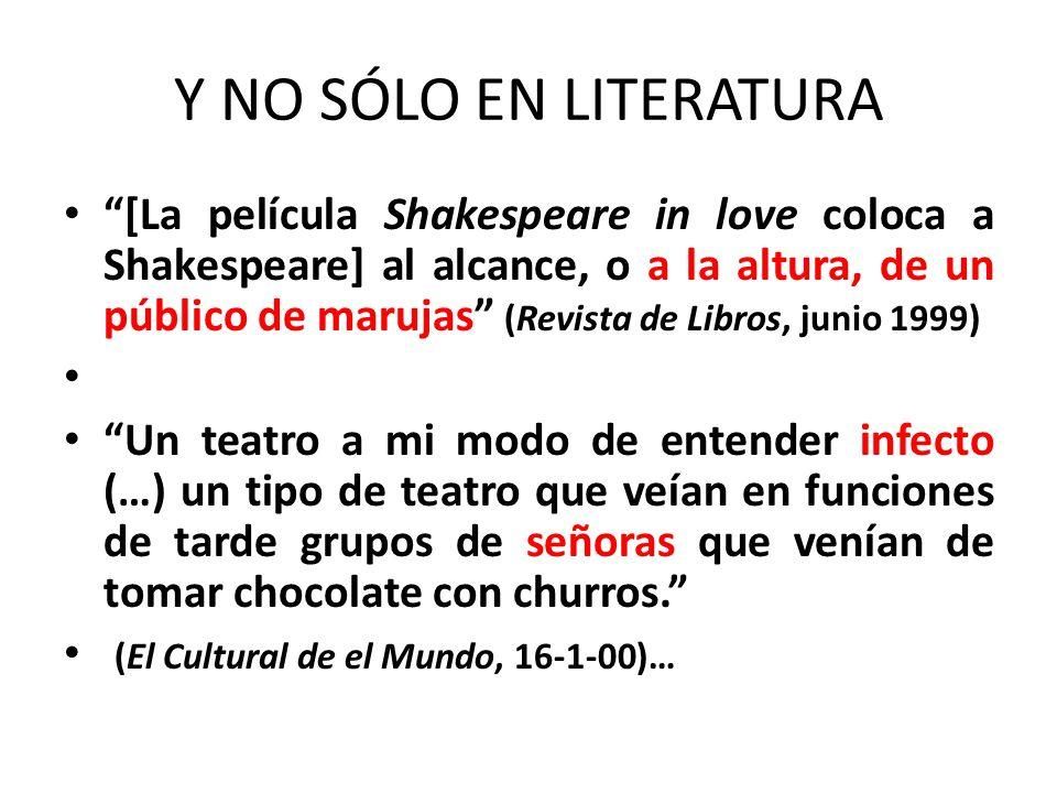 Y NO SÓLO EN LITERATURA