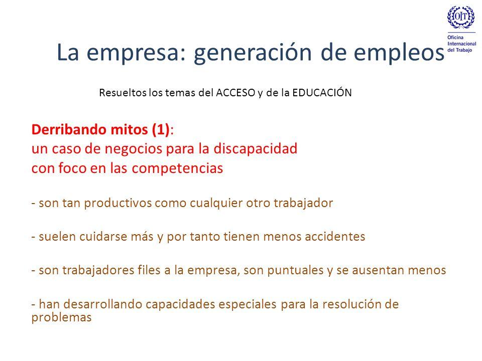 La empresa: generación de empleos