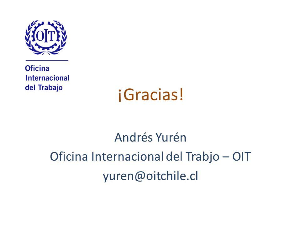 Andrés Yurén Oficina Internacional del Trabjo – OIT yuren@oitchile.cl