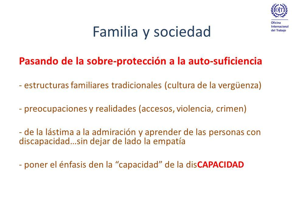 Familia y sociedad Pasando de la sobre-protección a la auto-suficiencia. estructuras familiares tradicionales (cultura de la vergüenza)
