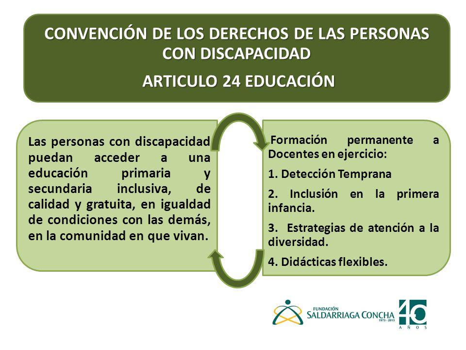 CONVENCIÓN DE LOS DERECHOS DE LAS PERSONAS CON DISCAPACIDAD