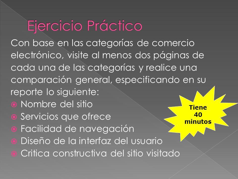 Ejercicio Práctico Con base en las categorías de comercio