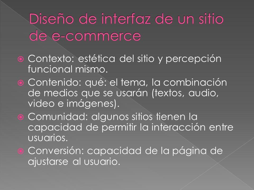 Diseño de interfaz de un sitio de e-commerce