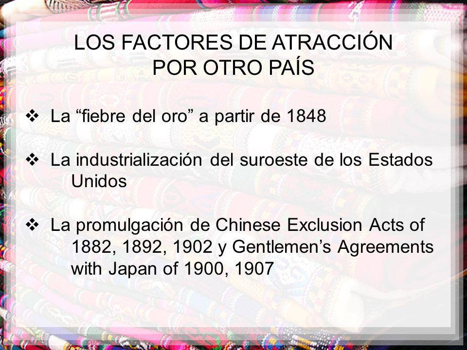 LOS FACTORES DE ATRACCIÓN