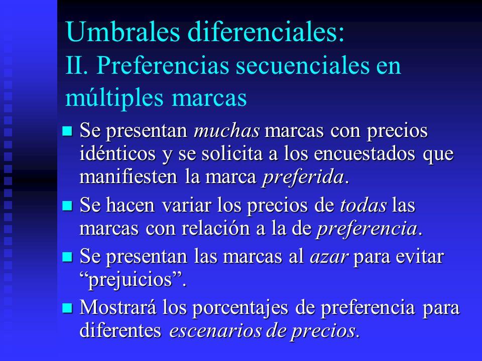 Umbrales diferenciales: II