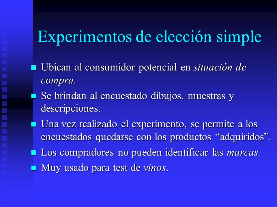 Experimentos de elección simple