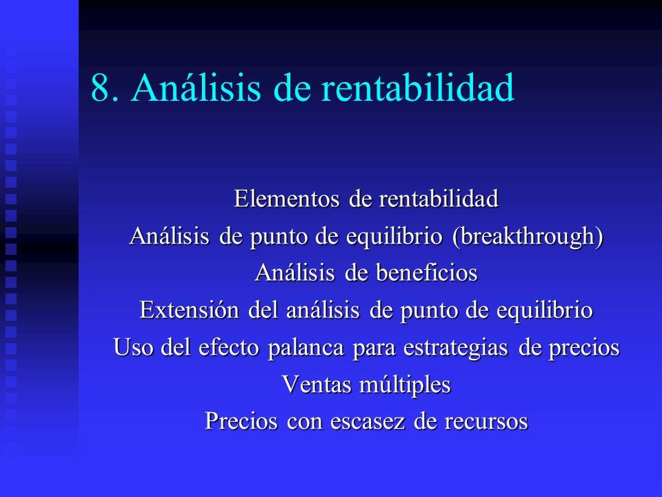 8. Análisis de rentabilidad