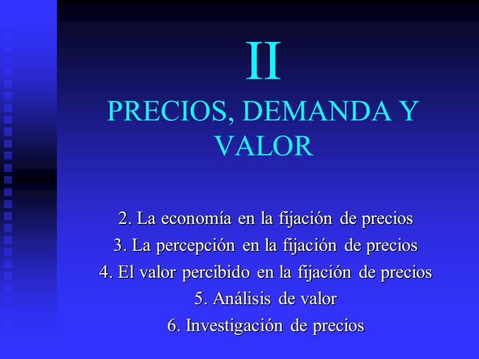 II PRECIOS, DEMANDA Y VALOR