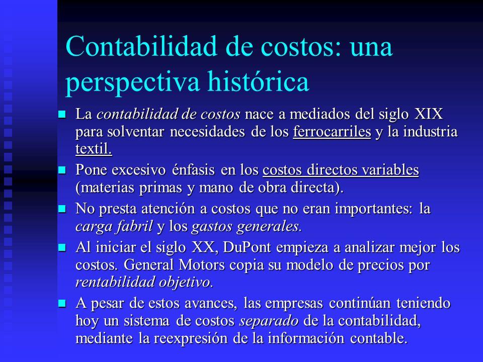 Contabilidad de costos: una perspectiva histórica