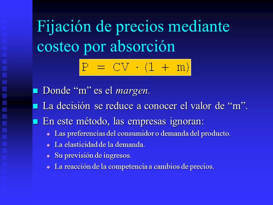 Fijación de precios mediante costeo por absorción