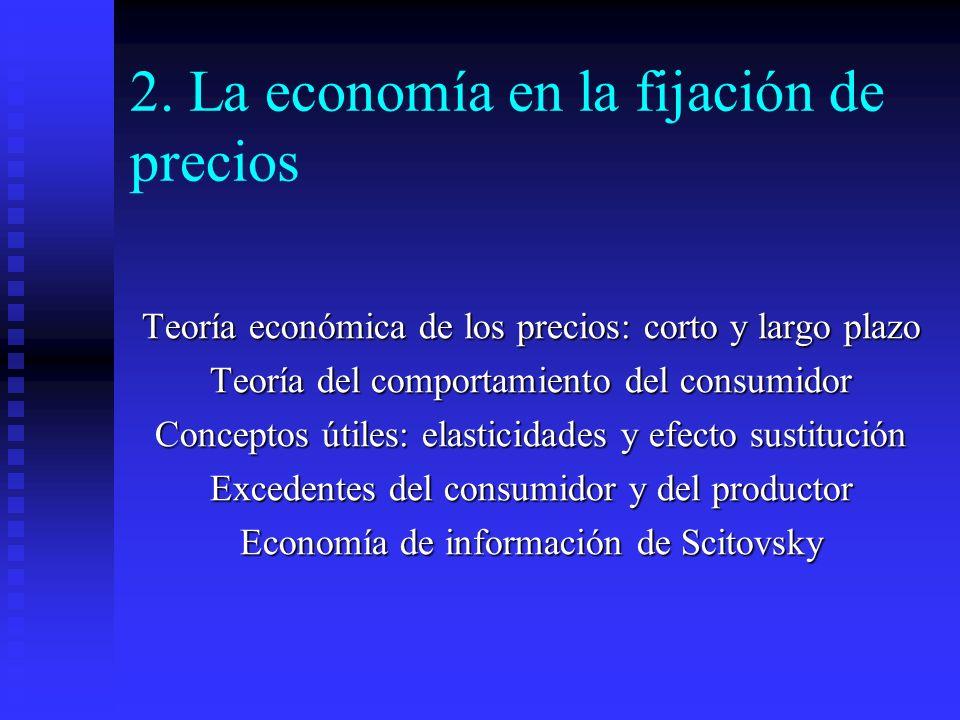2. La economía en la fijación de precios