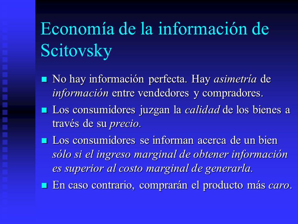 Economía de la información de Scitovsky