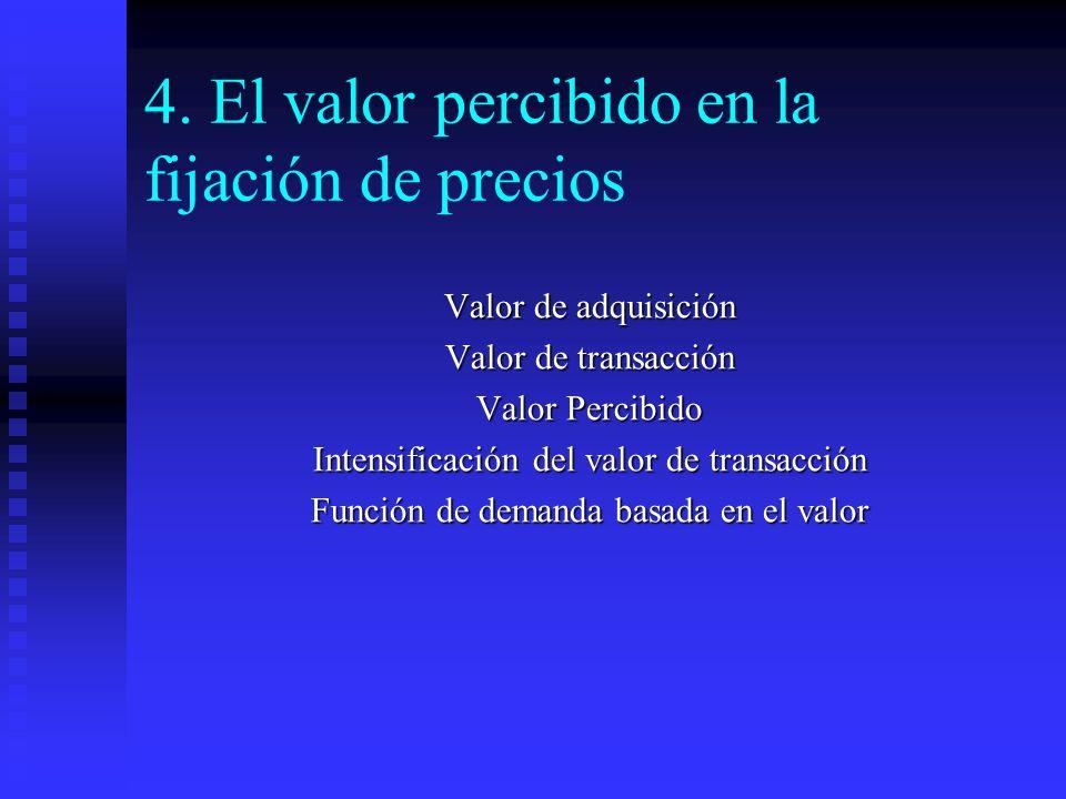 4. El valor percibido en la fijación de precios