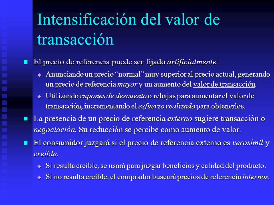 Intensificación del valor de transacción