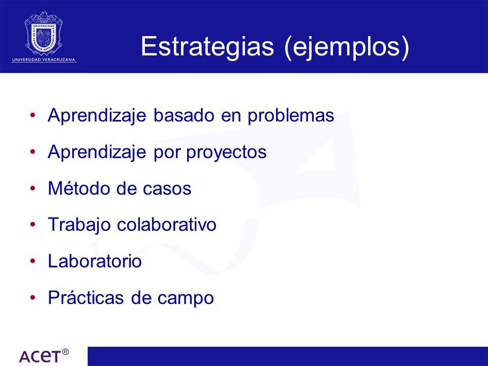 Estrategias (ejemplos)