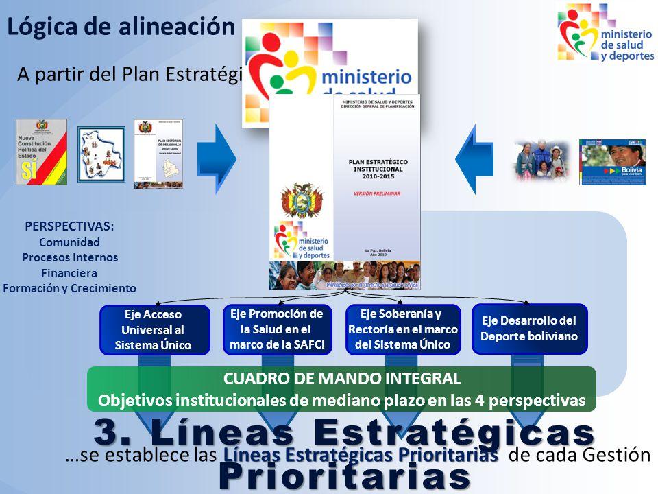 3. Líneas Estratégicas Prioritarias para la Gestión 2010