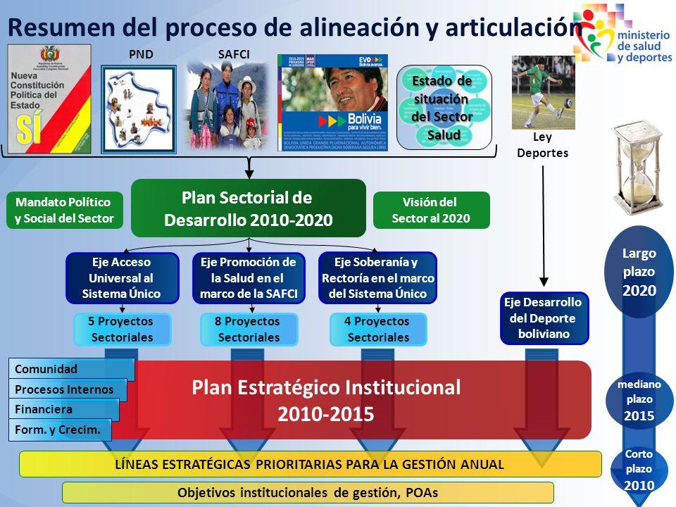 Resumen del proceso de alineación y articulación