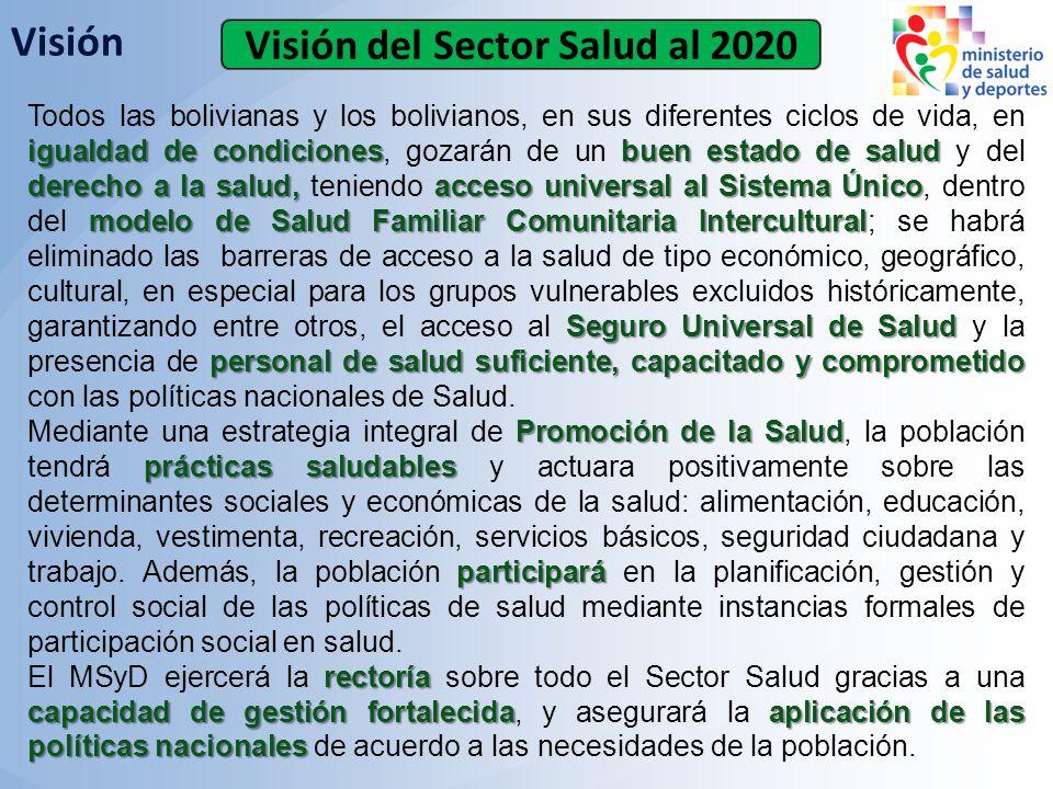Visión del Sector Salud al 2020