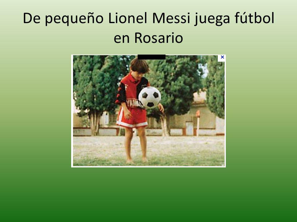 De pequeño Lionel Messi juega fútbol en Rosario