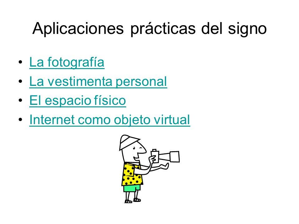 Aplicaciones prácticas del signo