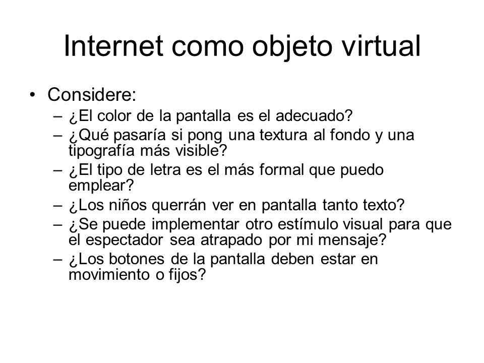 Internet como objeto virtual