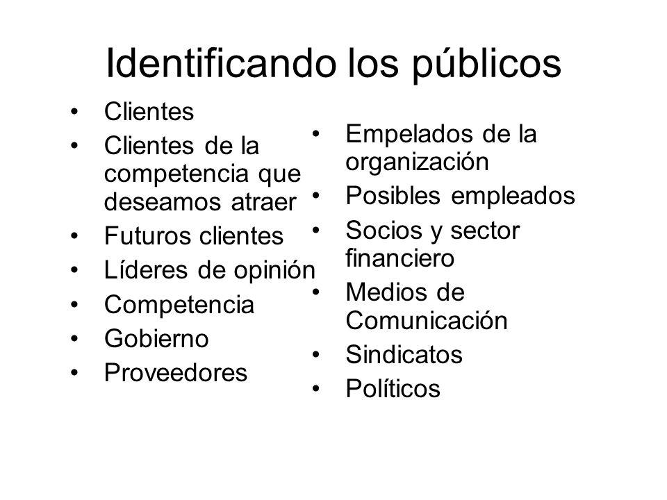 Identificando los públicos