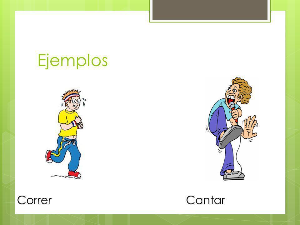 Ejemplos Correr Cantar