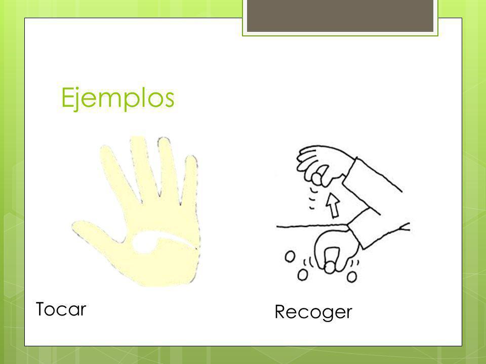 Ejemplos Tocar Recoger