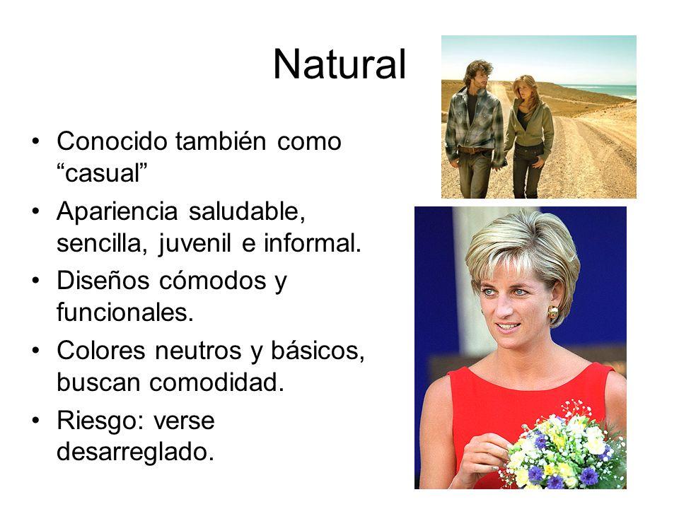 Natural Conocido también como casual