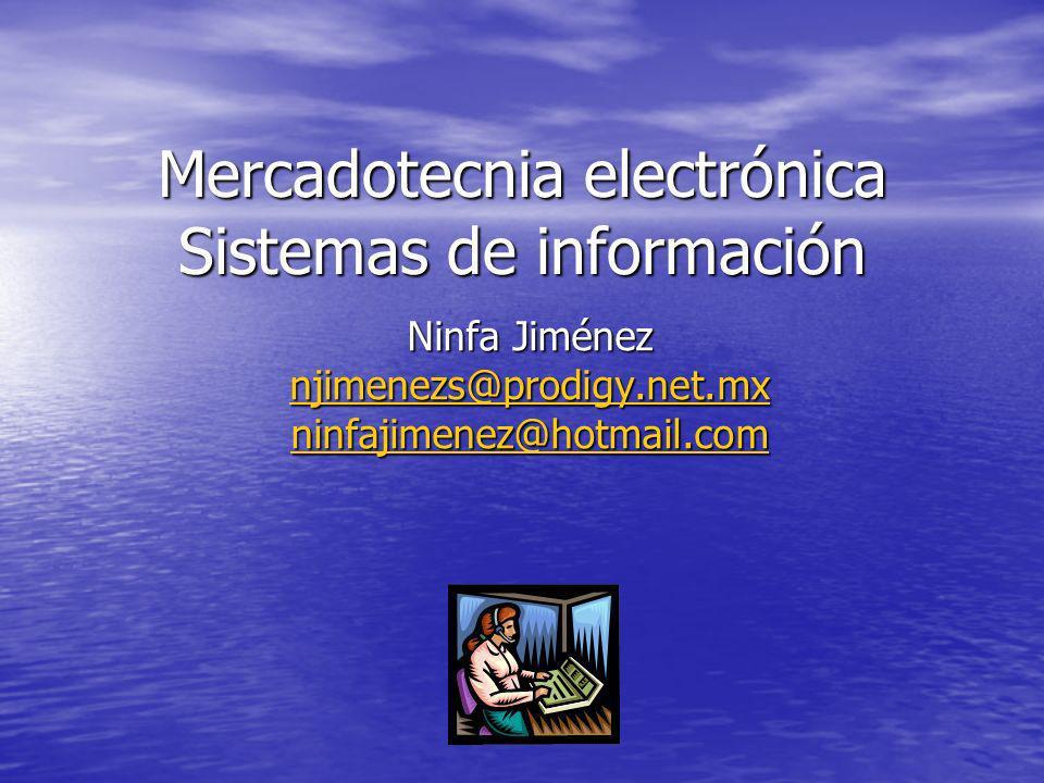 Mercadotecnia electrónica Sistemas de información