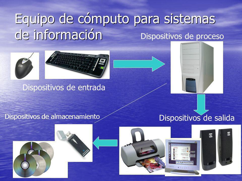 Equipo de cómputo para sistemas de información