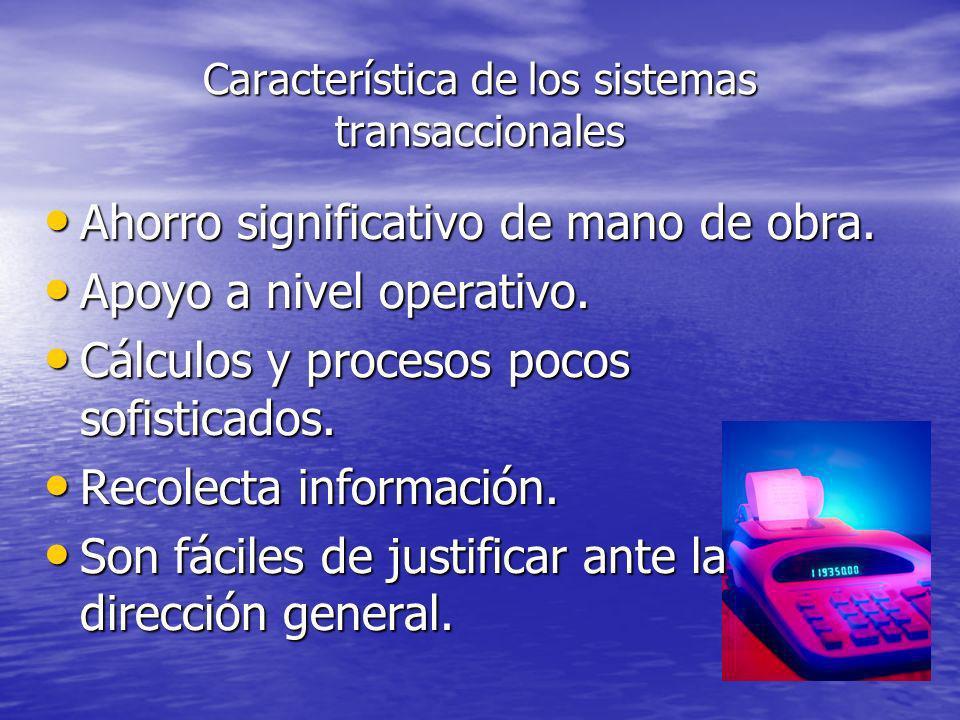 Característica de los sistemas transaccionales