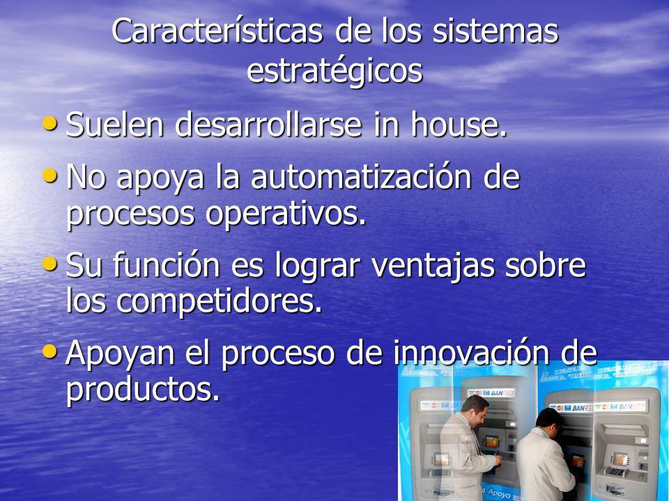Características de los sistemas estratégicos