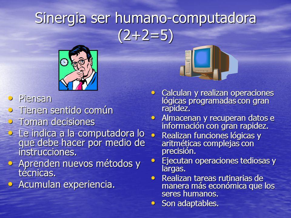 Sinergia ser humano-computadora (2+2=5)