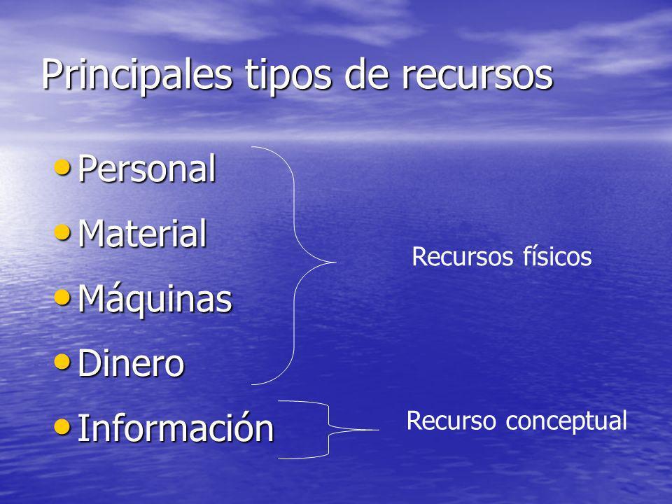 Principales tipos de recursos