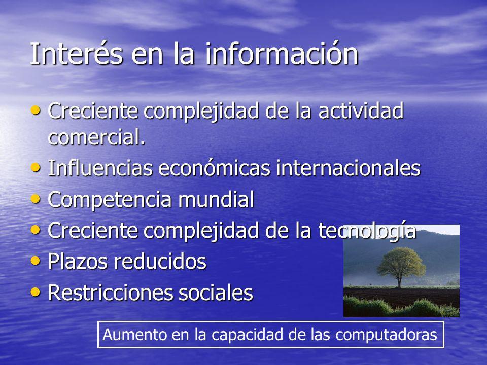 Interés en la información
