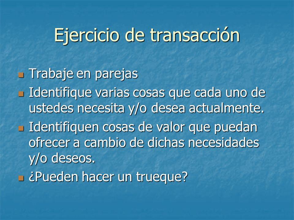 Ejercicio de transacción
