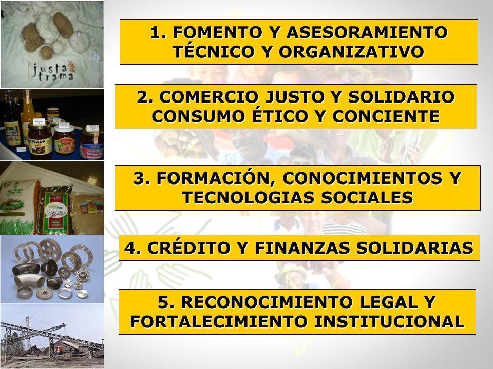 1. FOMENTO Y ASESORAMIENTO TÉCNICO Y ORGANIZATIVO