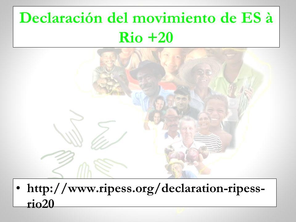 Declaración del movimiento de ES à Rio +20