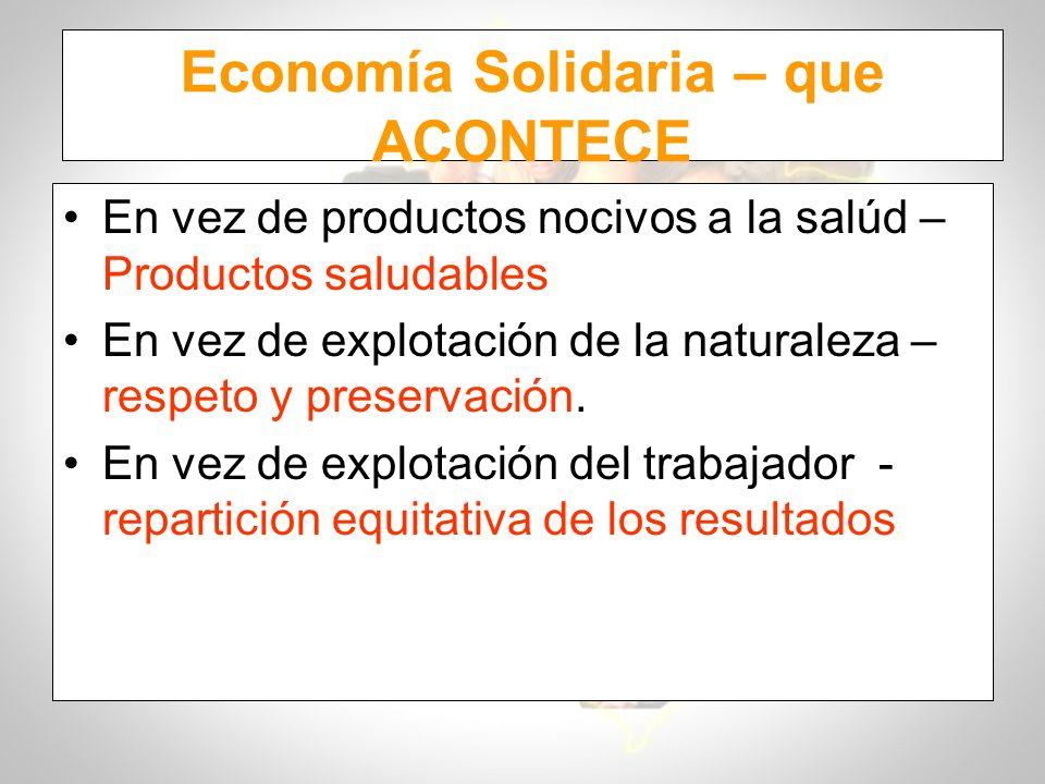 Economía Solidaria – que ACONTECE