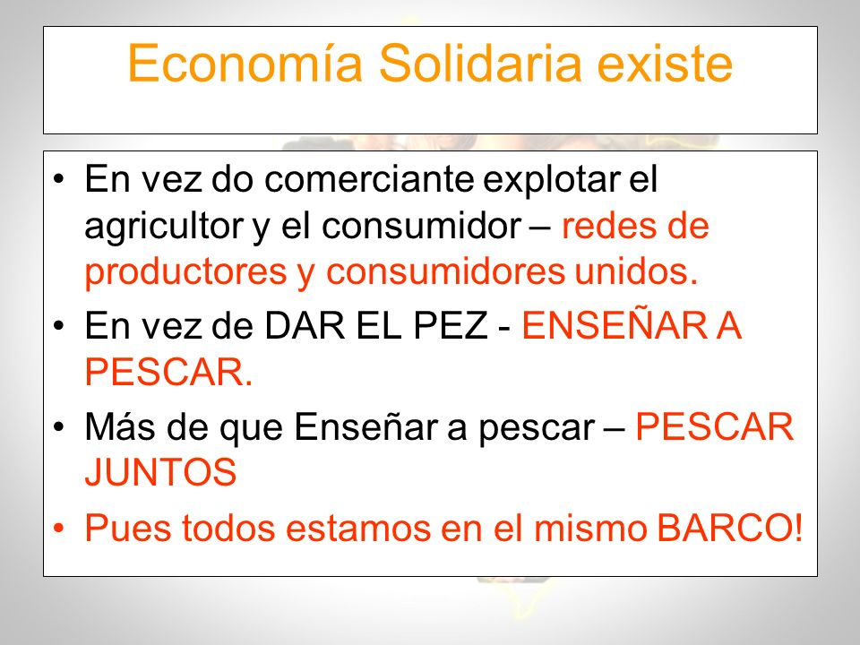 Economía Solidaria existe