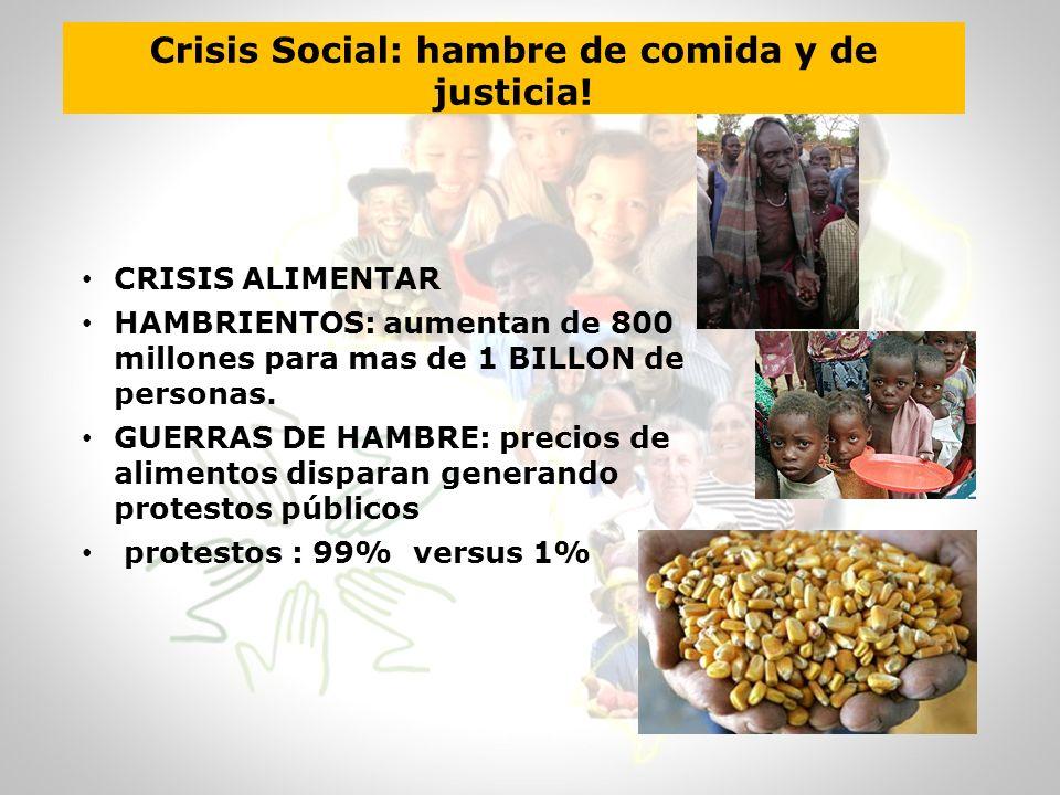 Crisis Social: hambre de comida y de justicia!