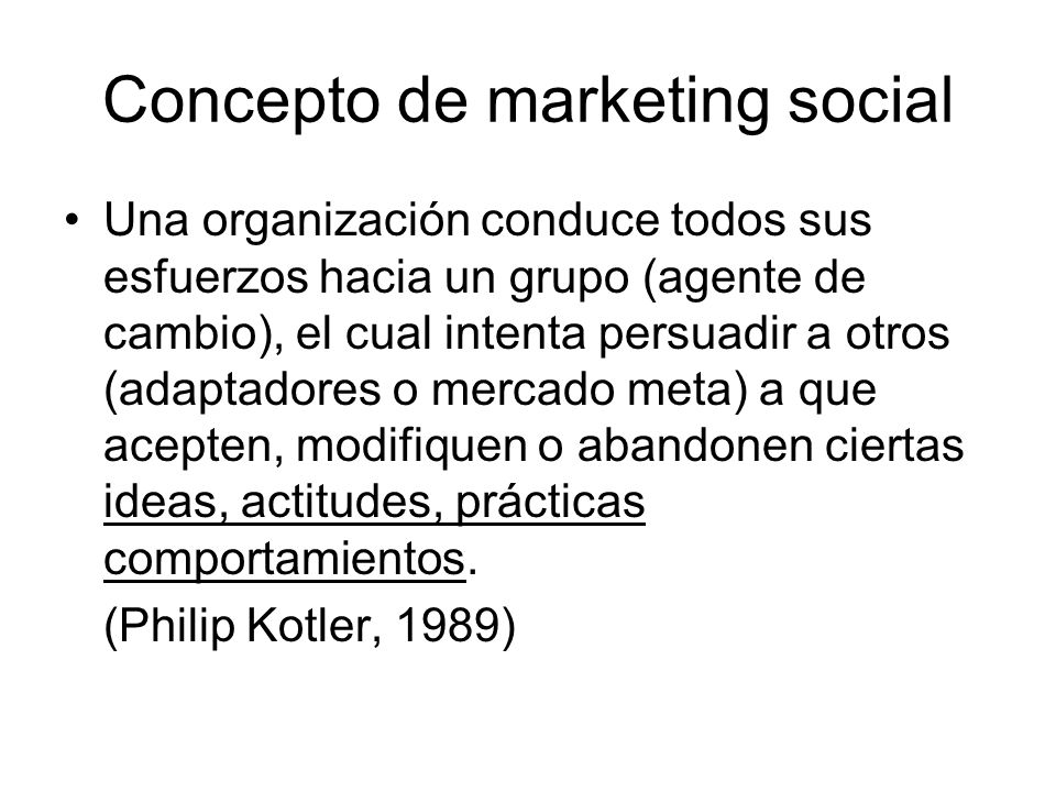 Concepto de marketing social