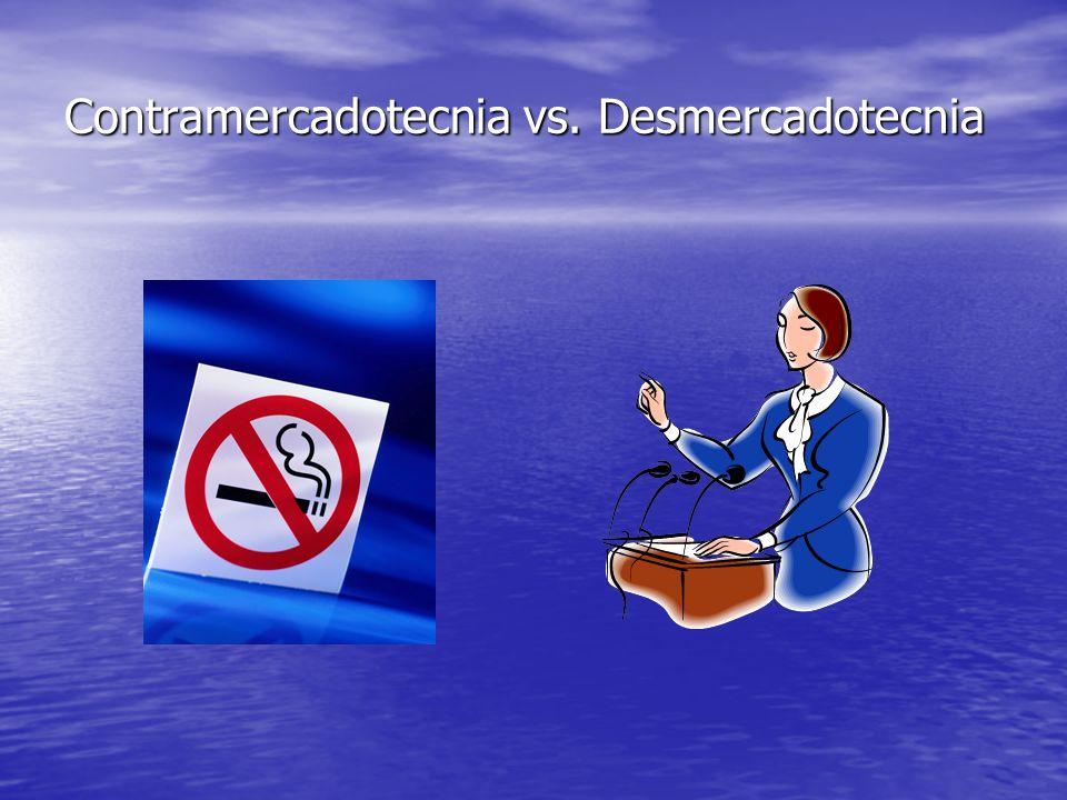 Contramercadotecnia vs. Desmercadotecnia