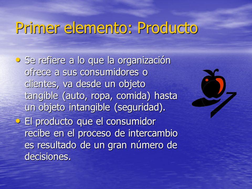Primer elemento: Producto