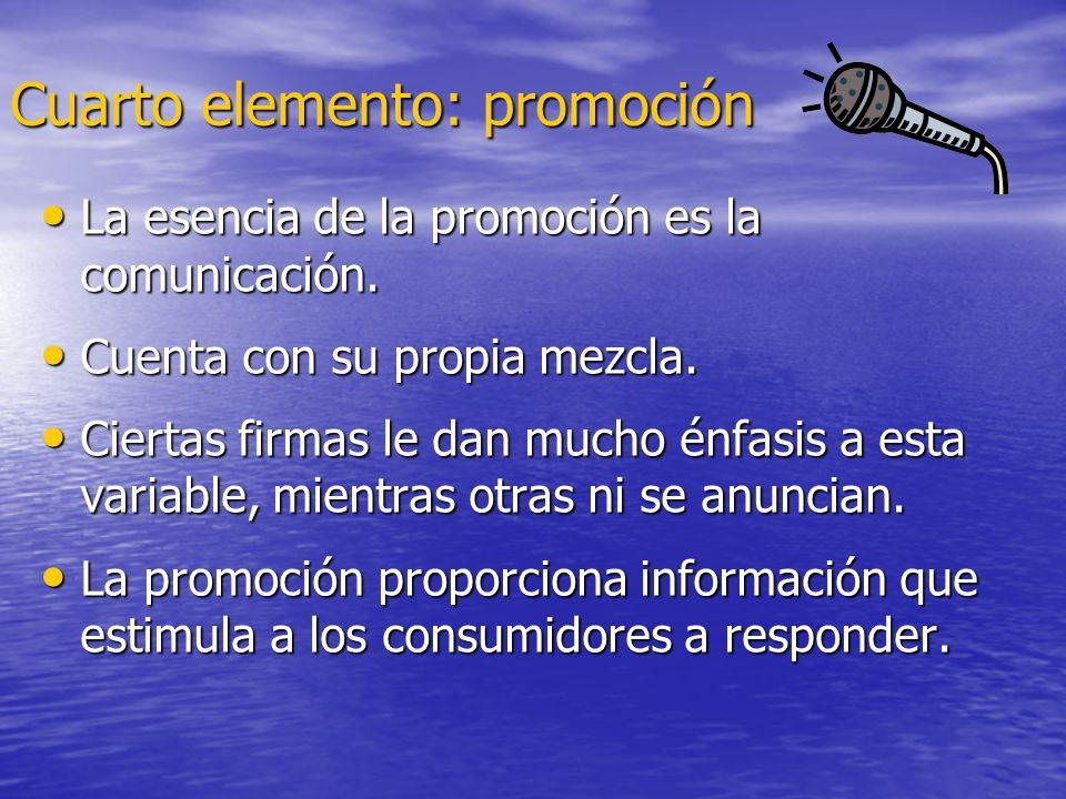 Cuarto elemento: promoción