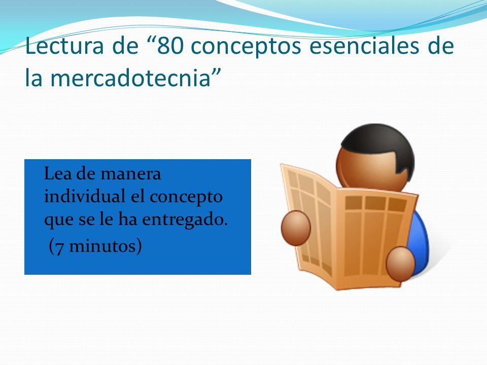 Lectura de 80 conceptos esenciales de la mercadotecnia