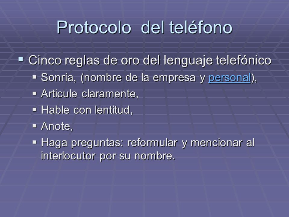 Protocolo del teléfono